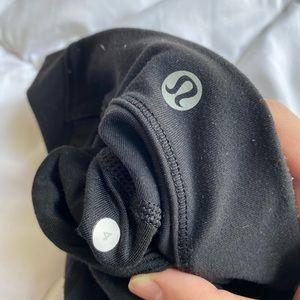 Lulu size 4 black mesh leggings